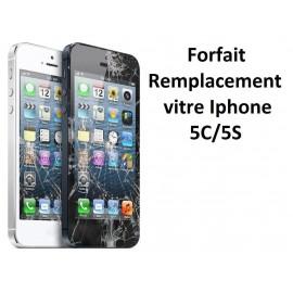 Forfait réparation vitre Iphone 5C ou 5S
