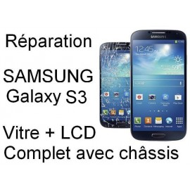 Forfait remplacement vitre Samsung galaxy S3 3G GT-i9300 ou 4G GT-i9305