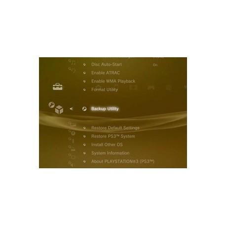 Sauvegarde données PS3 sur disque dur externe à fournir