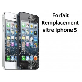 Forfait réparation vitre Iphone 5