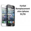 Forfait réparation vitre Iphone 5, 5C, 5S ou SE