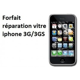 Forfait réparation vitre Iphone 3G, 3GS