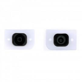 Bouton Home noir avec caoutchouc adhésif pour iphone 5 ou 5C