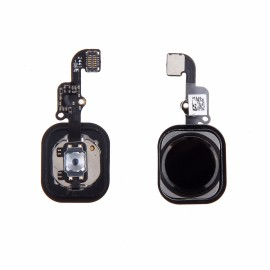 Bouton Home noir avec nappe pour iphone 6
