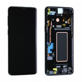 Forfait remplacement vitre + LCD Samsung galaxy S9 G960F NOIR CARBONE