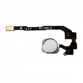 Bouton Home ORIGINAL blanc argent avec nappe pour iphone 5S / SE