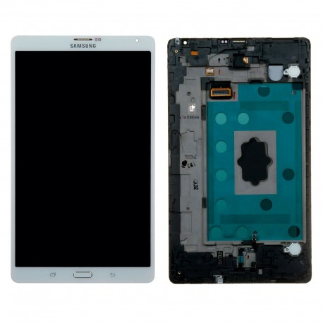 Forfait vitre et écran Samsung Galaxy Tab S 8.4 SM-T700 ou T705 Blanc