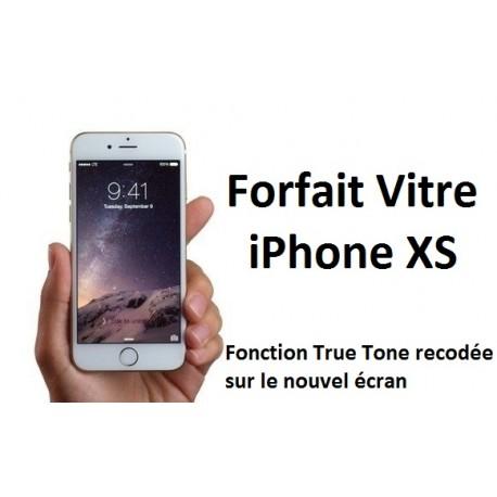 Forfait réparation vitre Iphone XS (avec fonction True Tone conservée)