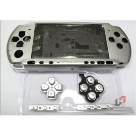 Coque complète gris silver PSP 3000 3004