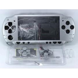 Coque complète gris silver PSP 2000 2004
