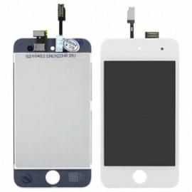 Vitre complète avec LCD pour ipod touch 4 blanc