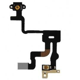 Nappe de bouton power de démarrage avec capteur de proximité et micro pour iphone 4S