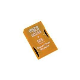 Adaptateur carte mémoire PSP double pour 2 Micro SD