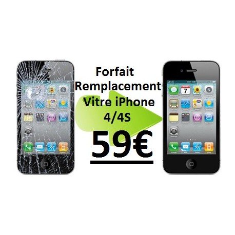 forfait r paration vitre iphone 4 4s 59 passgame fr. Black Bedroom Furniture Sets. Home Design Ideas