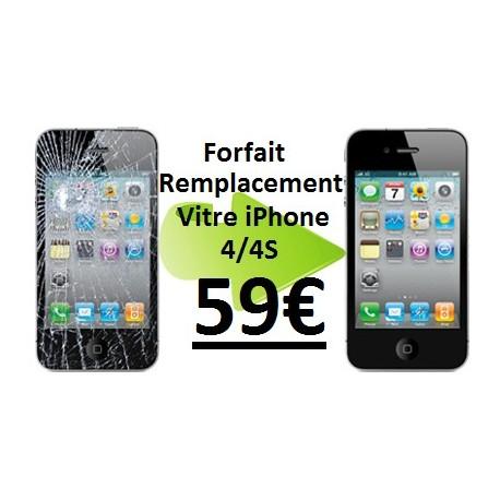 Forfait réparation vitre Iphone 4, 4S