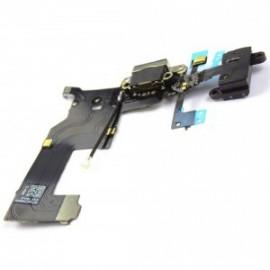 Connecteur de charge + micro pour iphone 5 noir