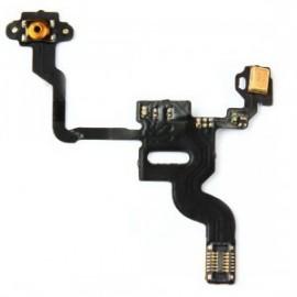 Nappe de bouton power de démarrage avec capteur de proximité et micro pour iphone 4