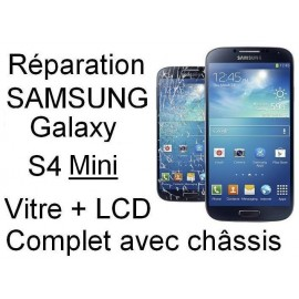 Forfait remplacement vitre Samsung galaxy S4 mini 3g GT-i9500 ou 4G GT-I9505