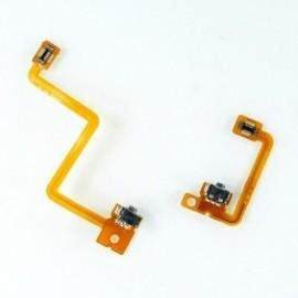 Nappe complète avec boutons L et R, slot carte SD pour 3DS