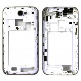 Châssis chromé pour Galaxy note 2 N7100 blanc