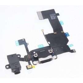 Connecteur de charge + micro pour iphone 5C noir