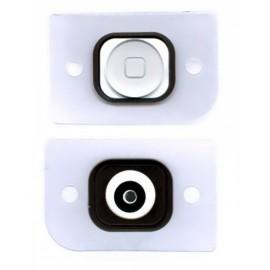 Bouton Home blanc avec caoutchouc adhésif pour iphone 5 ou 5C