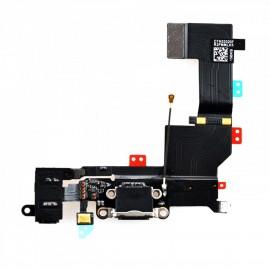 Connecteur de charge + micro pour iphone 5S noir