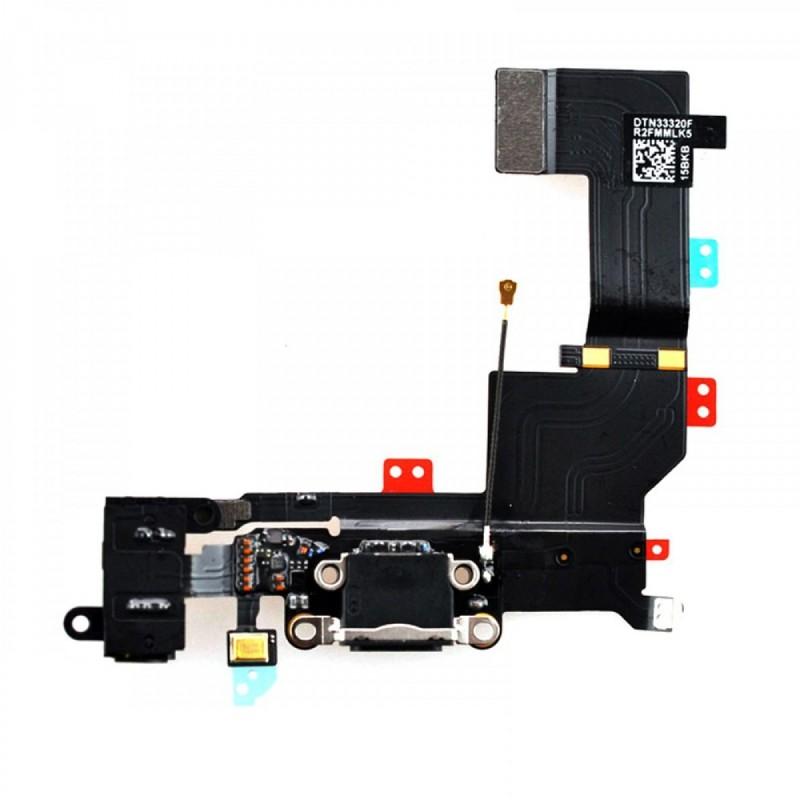 connecteur de charge micro pour iphone 5s noir passgame. Black Bedroom Furniture Sets. Home Design Ideas