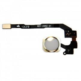 Bouton Home blanc doré or avec nappe pour iphone 5S
